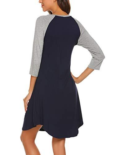 1cbd27d7e6c71 Ekouaer Women s Maternity Dress Nursing Nightgown for Breastfeeding  Nightshirt Sleepwear S-XL