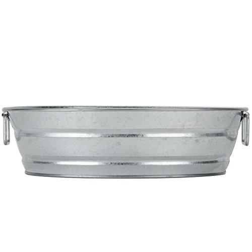American Metalcraft MTUB12 Natural Galvanized Metal Tub, Round, 12