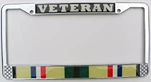 Desert Storm Veteran License Plate Frame (Chrome Metal)