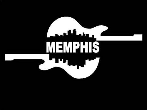 B1017 Memphis City Guitar Vinyl Decal Sticker for Car Truck SUV Van Window Laptop Wall Art Hard Rock Electric Blues Cafe Elvis (Hard Rock Cafe Sticker)