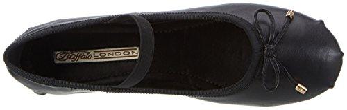 Buffalo London Women's 216-6144 Sheep Leather Ballet Flats Black (Black 01) P6WTiH