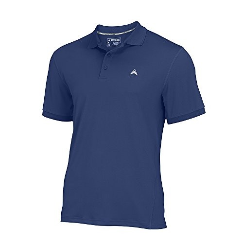 Arctic Cool Men's Instant Cooling Short Sleeve Polo Performance Tech Breathable UPF 50+ Sun Protection Moisture Wicking Comfortable Golf Quick Drying Top, Navy (2017), XXL