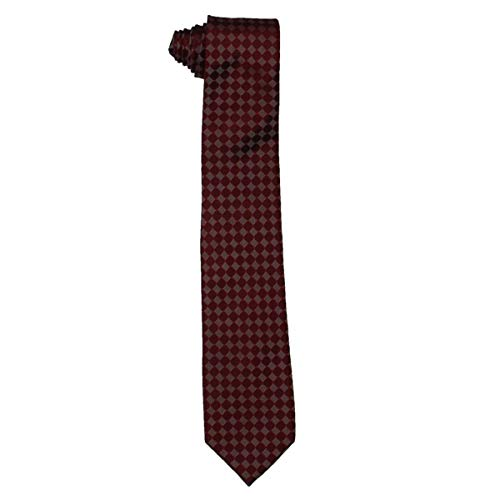 Sean John Mens Silk Pattern Neck Tie Red O/S