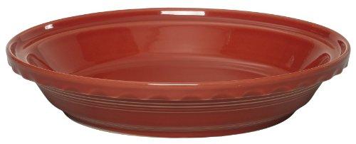 Fiesta 10-1/4-Inch Deep Dish Pie Baker, Scarlet