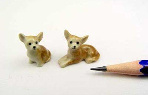 ChangThai Design Dollhouse Miniatures Ceramic Chihuahua FIGURINE Animals Decor by ChangThai Design