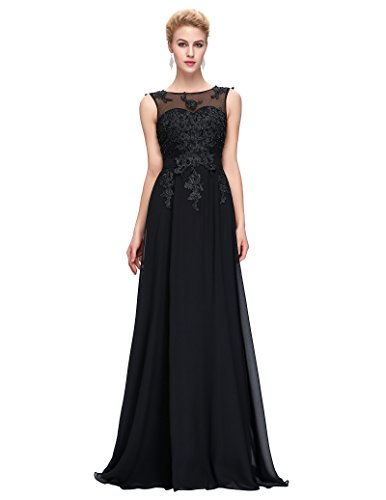 Black Long Prom Gown Backless Bridesmaid Evening Dresses,12