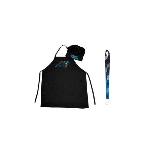 - Pro Specialties Group Carolina Panthers NFL Barbeque Apron and Chef's Hat with Bottle Opener