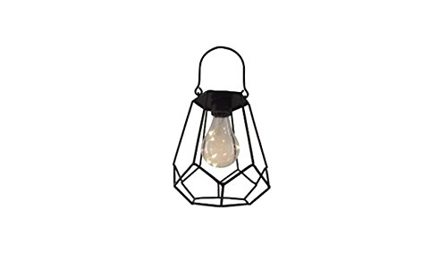 ReLive Outdoor Black Metal Hanging Lantern with Encased Solar LED Light Bulb (68007-2) by ReLive