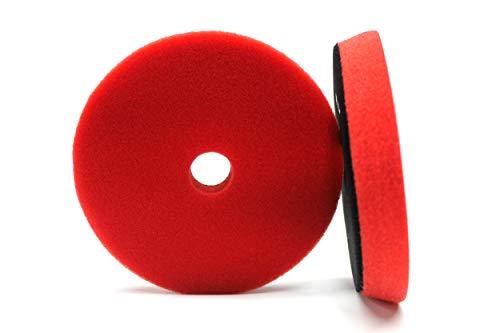 Maxshine Medium Pro Red Foam Finishing Pad with Hole- 130-140X20mm/ 5.2 inches- Perfectly Used with DA/RO Polisher