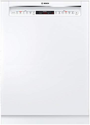 Bosch SHE878ZD2N 800 Series 24 Inch Built-In Recessed Handle Dishwasher with 6 Wash Cycles, Energy Star Certified, RackMatic, Flexible 3rd Rack, ExtraScrub Option, Sanitize Option, CrystalDry (White)
