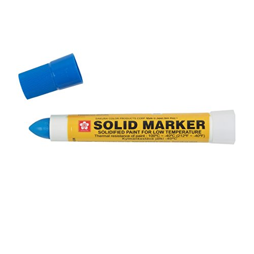 Sakura XSC-T-36 Blue Solidified Paint Low Temperature Solid Marker, -40 to 212 Degree F, 13 mm Twist-Up Tip (Pack of 12)