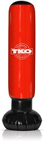 TKO Inflatable Punching Bag Tower with Pump, Red
