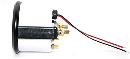 IENPAJNEPQN 2 52 mm Blanc Visage de Niveau de Carburant Jauge Compteur Voiture avec Carburant /à Flotteur capteur LED lumi/ère Blanche Jante Noire Automobile Jauges 12V Color : with Float