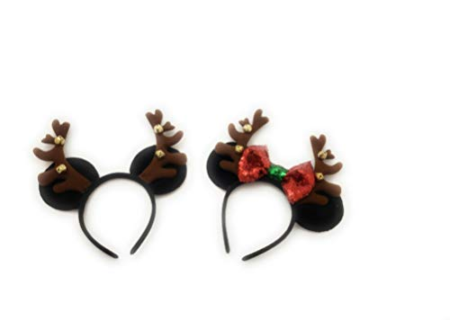 Homemade Mouse Costume (GREATLILDEAL Minnie Mouse Inspired Mickey's Ears Christmas Sparkly Ears Headband Homemade)