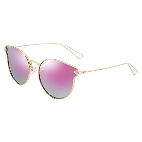 Couleur en Lunettes Femme Des A psychédélique à Lumineux Monture polarisées Sport soleil métal Soleil lunettes pour de Femme de Vintage Miroir C PqXtXHgx