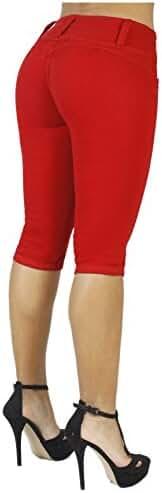 Curvify Women's Butt-Lifting Jeans Capris   High-Rise Waist 764