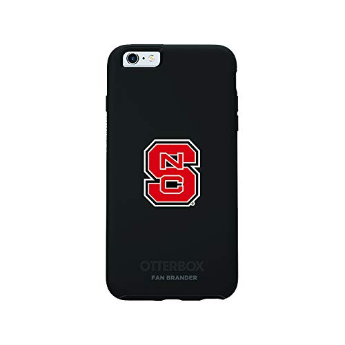 Fan Brander NCAA Black Phone case with School Logo, Compatible with Apple iPhone 6 and iPhone 6s with OtterBox Symmetry Series (NC State -