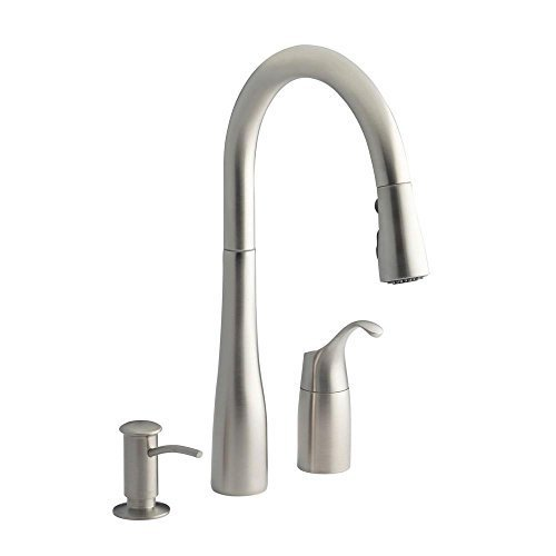 Kohler Simplice Three-hole kitchen sink faucet with 9