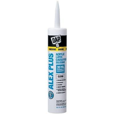 Dap 18156 Clear Acrylic Latex Caulk With Silicone 10.1-Ounce