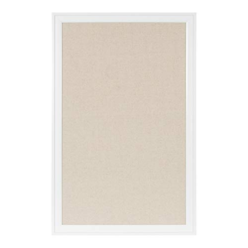 Price comparison product image DesignOvation Bosc Framed Natural Linen Fabric Pinboard,  27.5x43.5