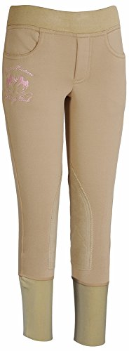 (Equine Couture Girl's Riding Club Pull-On Breech, Safari, 10)