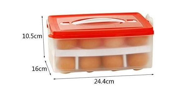 Caja de huevos de doble capa para colocar el huevo en la cocina ...