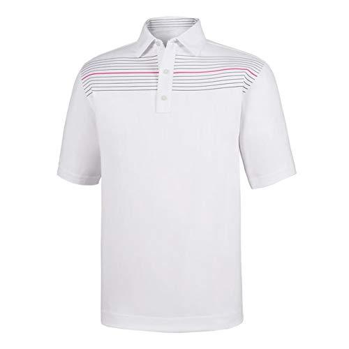 Athletic Fit Lisle Chest Pinstripe Self Collar (Footjoy Performance Rain Shirt)