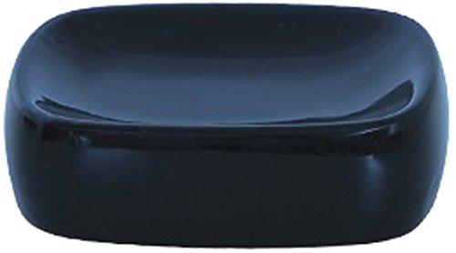MSV 140447 Soap Holder Ceramic Black 19 x 9.5 x 4 cm