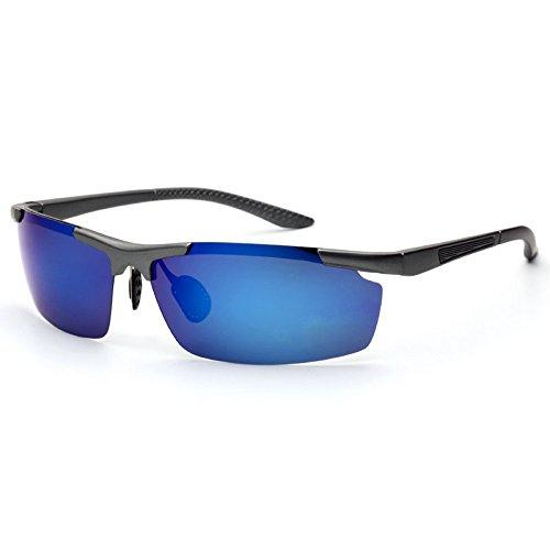Del Sol Libre Aire Unisex Gunboxgreensilver Polarizadas Para Sol De UV400 Gafas Gafas De Sol Al Polarizadas Sol Polarizadas YqUf6F