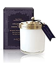 MOR Boutique Scented Home Library Strawberry and White Jasmine Fragrant Candle, 380 ml