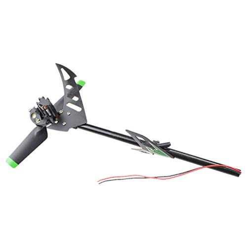 Pstars Brush Tail Motor with Tail Tubet Spare Part for Wltoys V912 RC Helicopter Remote Control Aircraft with Brush Tail Motor Unit Accessories