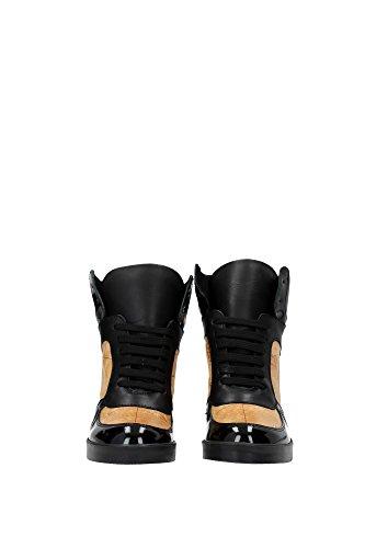 MARTINI Donna CLASSE Nero Pelle ALVIERO Vernice Beige 1 Sneakers qTER1F