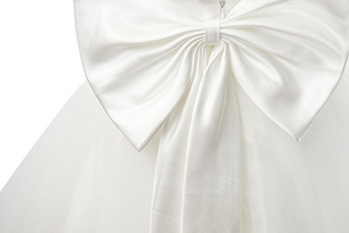 Miama Ivory Lace Tulle Backless Wedding Flower Girl Dress Junior Bridesmaid Dress by Miama (Image #3)