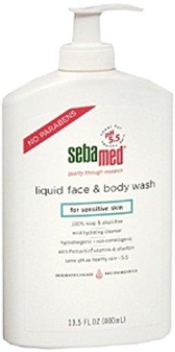 Sebamed Liquid Face Body Wash for Sensitive Skin 13.50 oz Pack of 2