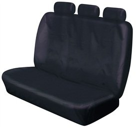 XtremeAuto/© REAR TRIPLE BLACK BENCH SEAT COVERS FOR TOYOTA HILUX