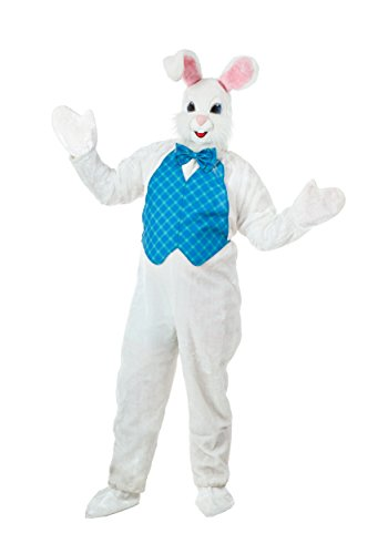 Plus Size Mascot Easter Bunny Costume 3X White