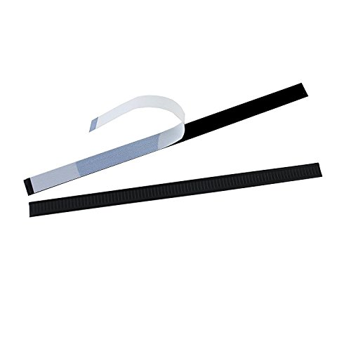 AwePackage Peel-and-Stick Tin Tie - Black, 7 inch (100) ()