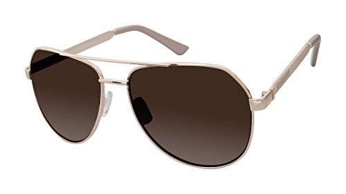 Rocawear Women's R704 Rgdnd Aviator Sunglasses, Rose Gold Nude, 59 mm