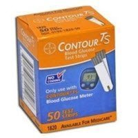PT# -1820 Strips Test Contour TS Ascencia Glucose 50/Pk b...
