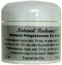 Natural Radiance Progesterone Creme 2 oz. Jar (Bio-Identical) Soy-Free - Unscented & Paraben-Free | Made in The USA