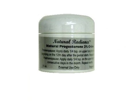2 Oz Natural Progesterone Cream (Natural Radiance Progesterone Creme 2 oz. Jar (Bio-Identical) Soy-Free - Unscented & Paraben-Free)
