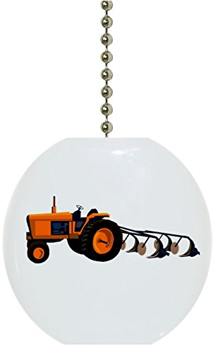 Orange Farm Tractor Solid Ceramic Fan ()