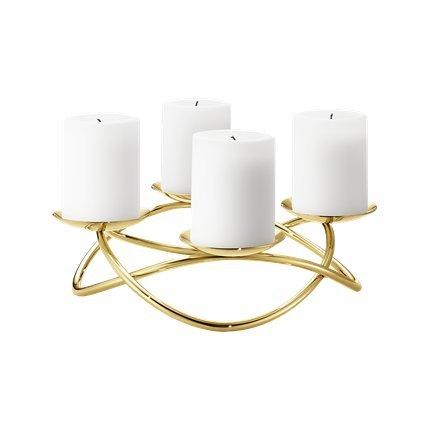 Georg Jensen SEASON candleholder large gold plated