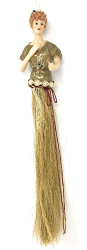 Popluar Imports Polyresin Tassel Doll with Fringe Ornament