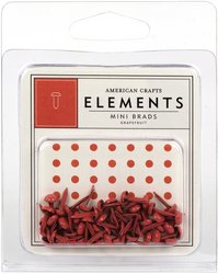 American Crafts Mini Eyelets - American Crafts Elements Mini Brads, Grapefruit