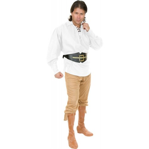 [Unisex Buccaneer Pirate Shirt Costume Accessory - Medium - Chest Size 40] (Toddler Renaissance Costumes)
