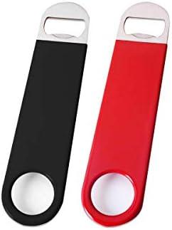 Sacacorchos de acero inoxidable, 2 unidades, color negro y rojo