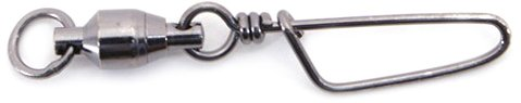 (Spro Ball Bearing Swivel with Coast Lock-Pack of 6 (Black, Size 5))