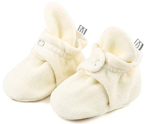 The Peanutshell Fleece Booties, 3, 6, 12 Months (3M (0-3 Months), Ivory)