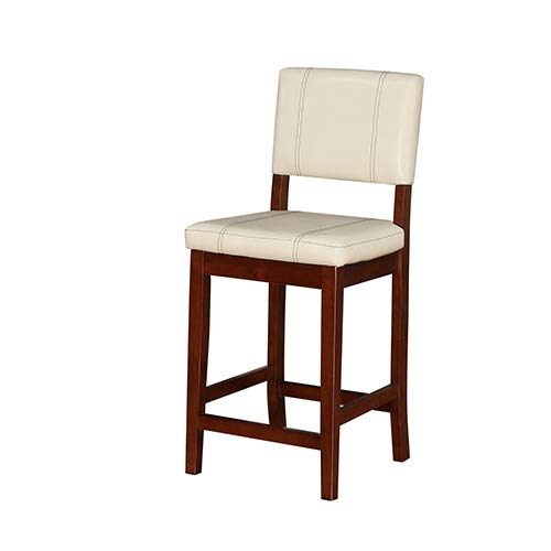 Brighton Hill Milano Medium and Dark Walnut 24-Inch Counter Stool
